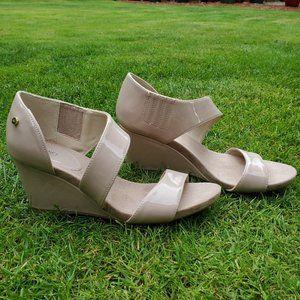 Jones NY Brenda Wedge Sandals Size 6.5